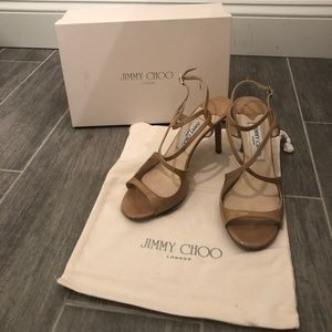 Jimmy Choo Patent Leather Strappy Sandal